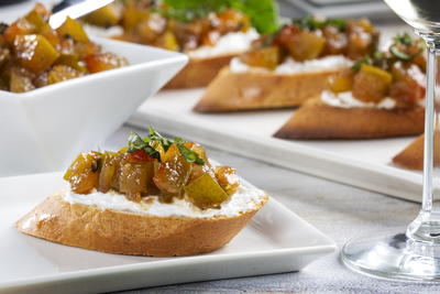 Pickled Watermelon Rind Bruschetta