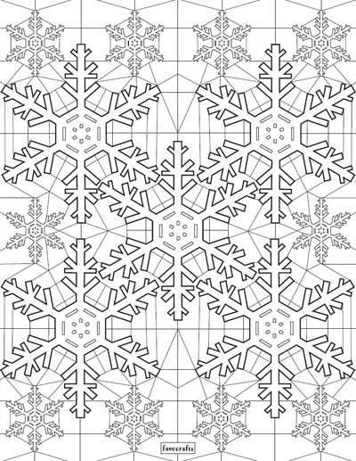 Stained Glass Snowflake Coloring Page