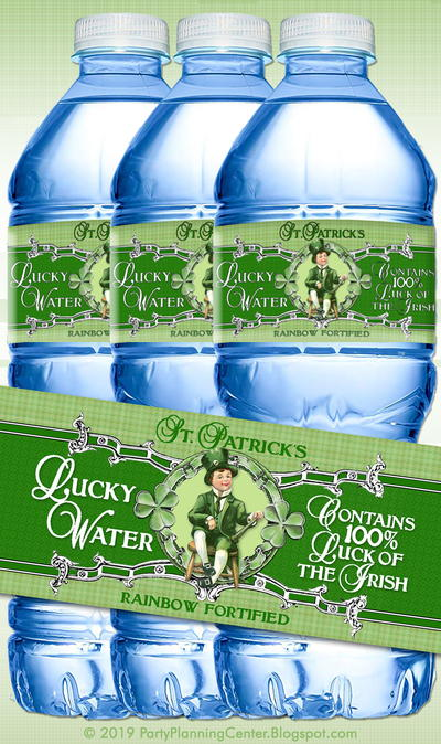 St. Patrick's Day Printable Bottle Labels