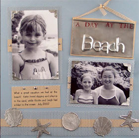 Beach Day Scrapbook Layout