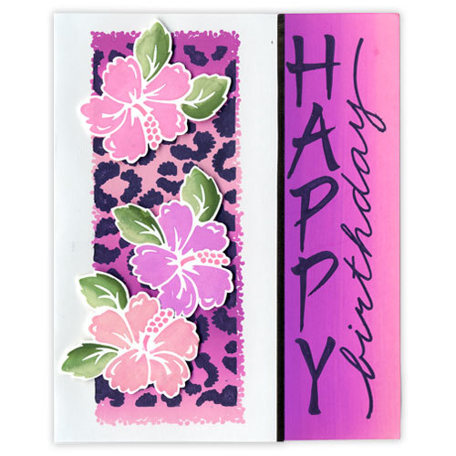 Hawaiian Happy Birthday Card Favecrafts