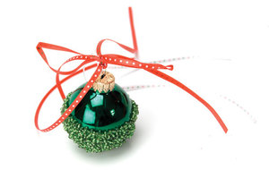 Beaded Green Ornament