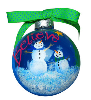 Believe Snowman Christmas Ornament