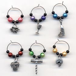 Beaded Wine Glass Charms