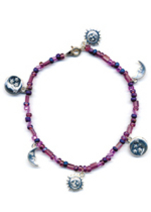 Moon and Stars Anklet