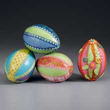 Bright Paper and Ribbon Eggs