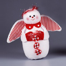 Peppermint Stripes Guardian Snow Angel