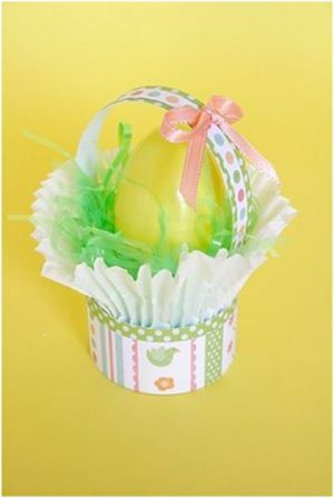 Mini Cupcake Easter Baskets