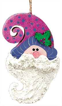 Bearded Santa Ornament