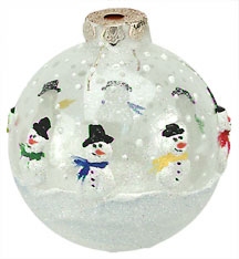 Clear Snowman Ornament
