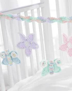 Butterfly and Flower Baby Mobile