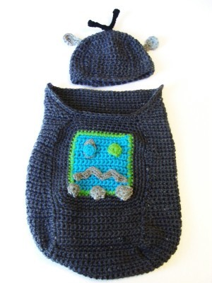 Robot Baby Cocoon and Hat