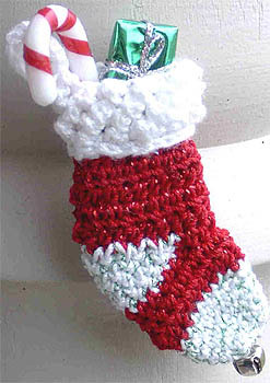 Crochet Christmas Stocking Pin