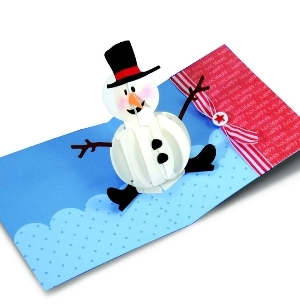 Pop up Snowman Card