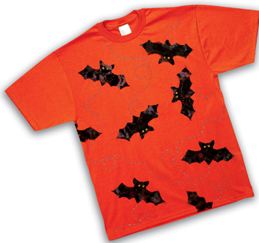 Orange Bat T Shirt