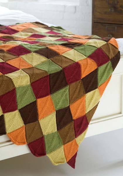 Autumn Leaves Knit Afghan Pattern Favecrafts