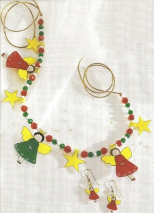 Christmas Angel Necklace and Earrings