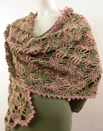 Free Crochet Patterns Using Caron Yarn : Lace Lattice Wrap Crochet Pattern from Caron Yarn ...