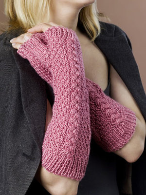 Fingerless Cable Gloves