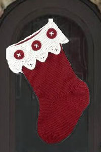 Lace Top Christmas Stocking