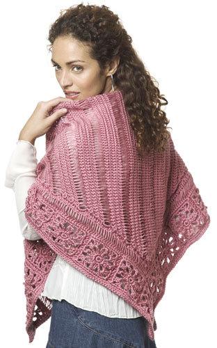 Broomstick Lace Shawl Crochet Pattern From Caron Yarn