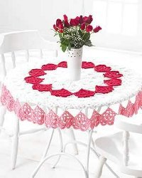 Crochet Valentine Tablecloth