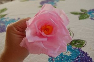 Crepe Paper Rose Bouquet