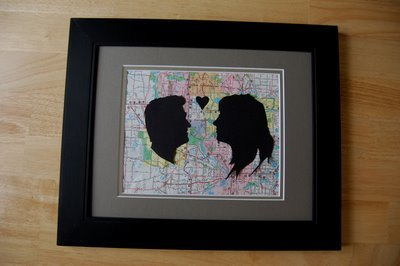 Custom couple silhouettes for Arts and crafts ideas for couples