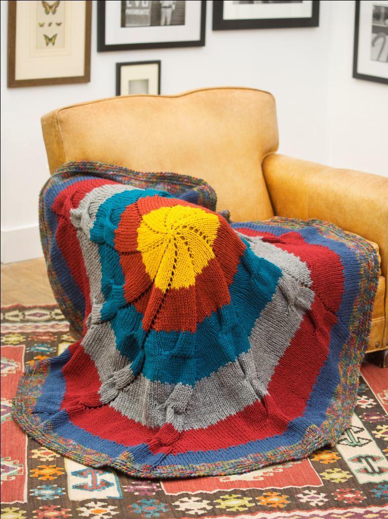Colorful Knit Throw Favecrafts Com