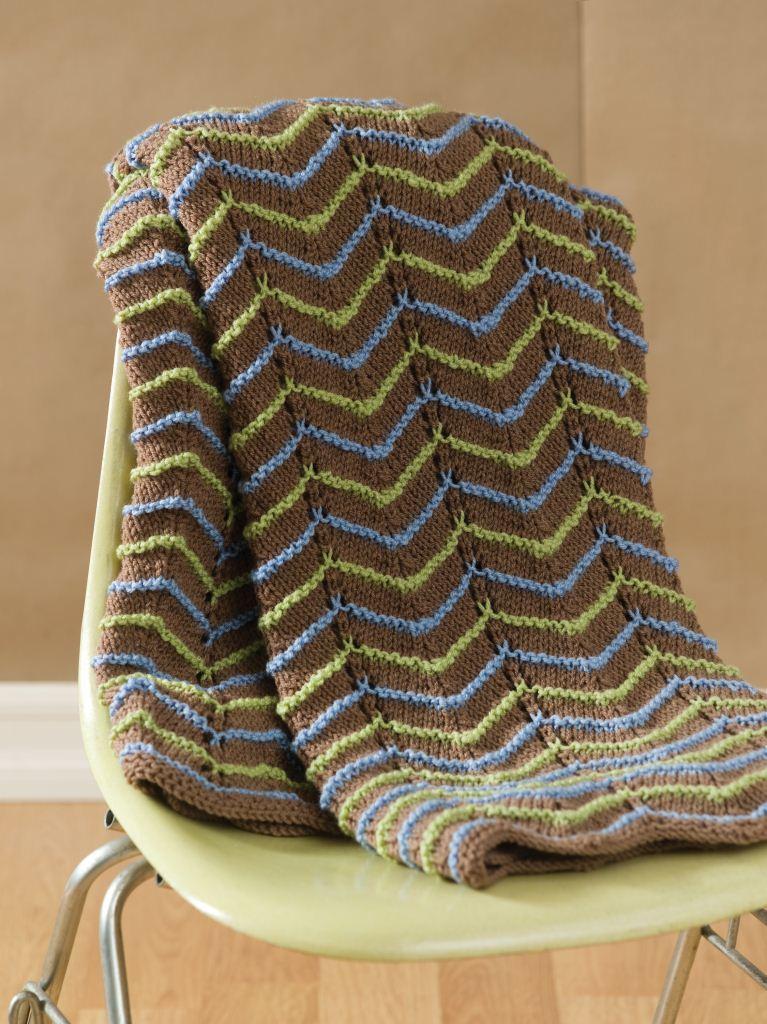Earth Tone Knit Afghan Favecrafts Com