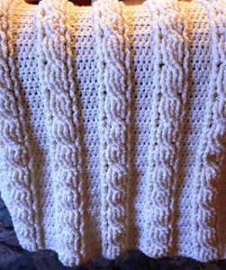Cable Baby Blanket Allfreecrochet Com
