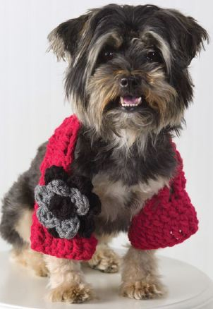 Dog Shrug Crochet Pattern from Red Heart Yarn FaveCrafts