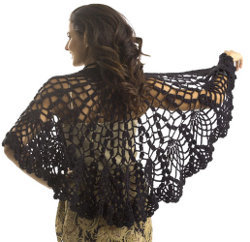 A pineapple lace shawl allfreecrochet using this free crochet pattern you can crochet yourself an elegant looking shawl inspired by a vintage doily eco friendly yarn is the way to go dt1010fo