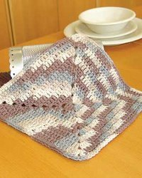 An Easy Ombre Dishcloth