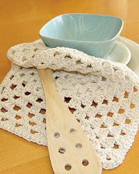 A Granny's Square Dishcloth