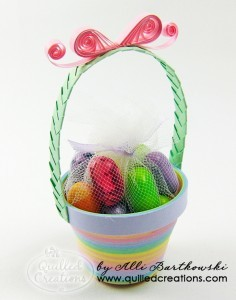 Quilled Paper Easter Basket