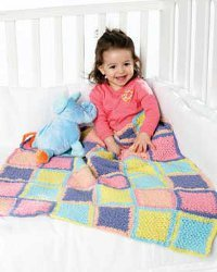 Colorful Blocks Baby Afghan