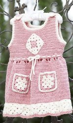 Crochet Jumper with Granny Pockets