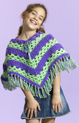 Cute Striped Poncho