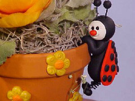 Ladybug Clay Pot Friend