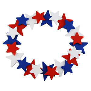 Star Spangled Felt Wreath