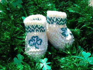 Bootie Go Bragh Shamrock Baby Shoes