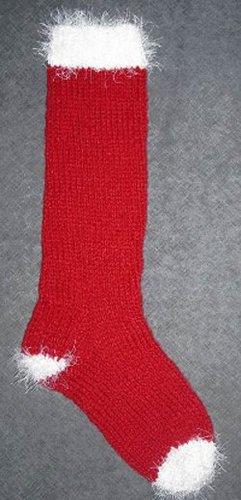 Basic Classic Christmas Stocking | AllFreeKnitting.com