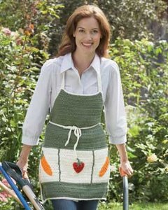 This Is A Free Crochet Pattern Youu0027ll Love To Use Again If You Have A Green  Thumb. Three Large Pockets Make Carrying Small Gardening Tools A Breeze.
