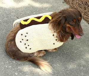 Cute Hot Dog Crochet Coat