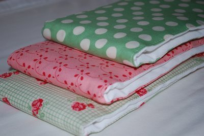 Baby Burp Cloth and Bib Sets