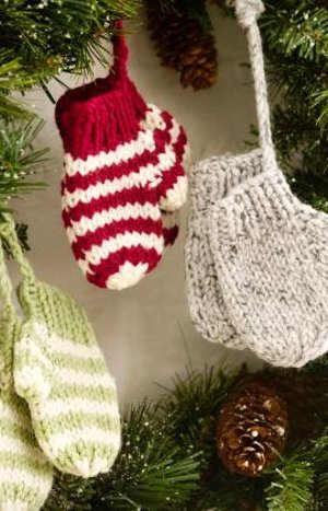 knit mitten ornaments - Crochet Angel Christmas Tree Decorations