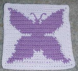 Row Count Butterfly Crochet Granny Square