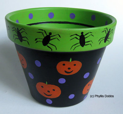Trick or Treat Candy Pot
