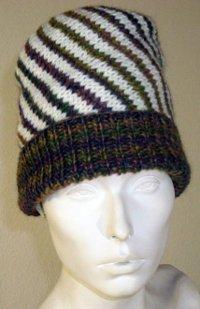 Spiral Knit Hat Pattern | AllFreeKnitting.com
